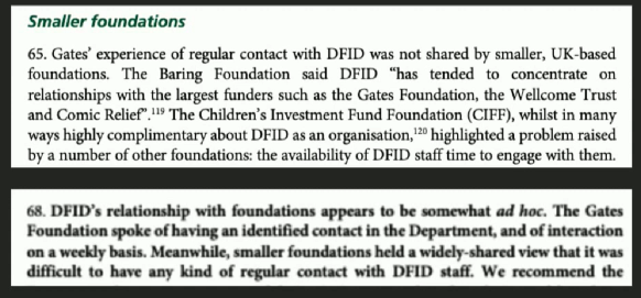 Gates and the DFID